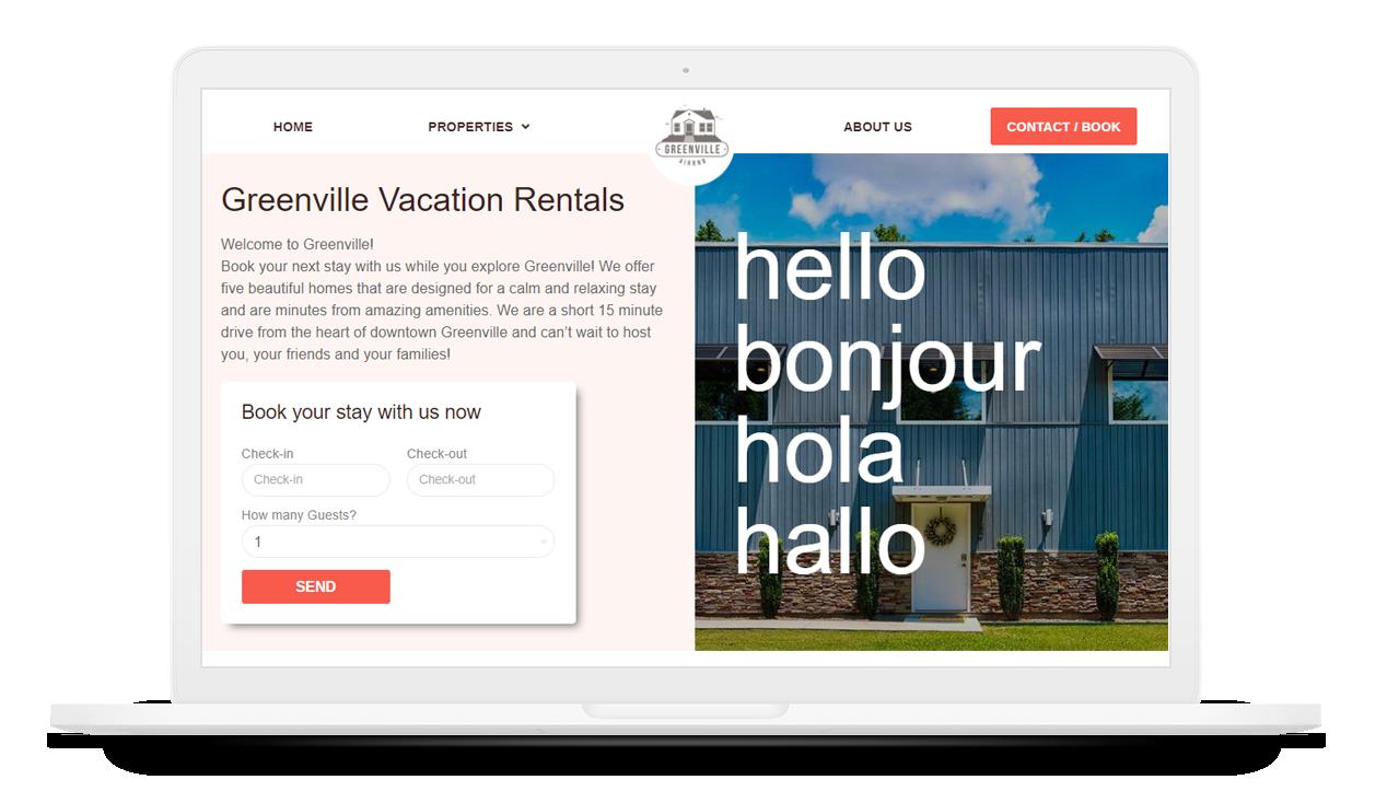 vacation rentals greenville
